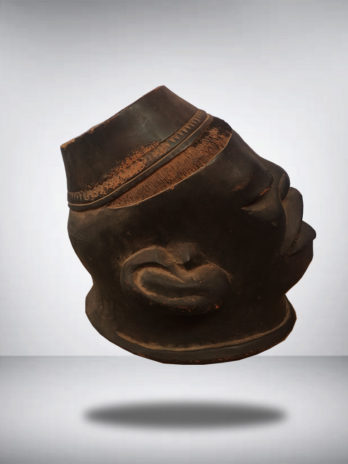 Makonde Helmet Mask with Taqiyah Carving